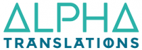 logotipo Alpha Translations